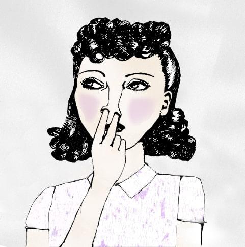 2 doigts dans le nez