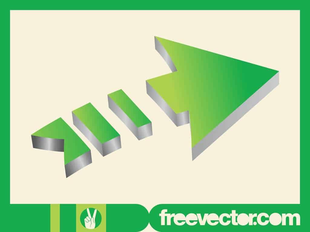 Green-3D-Arrow