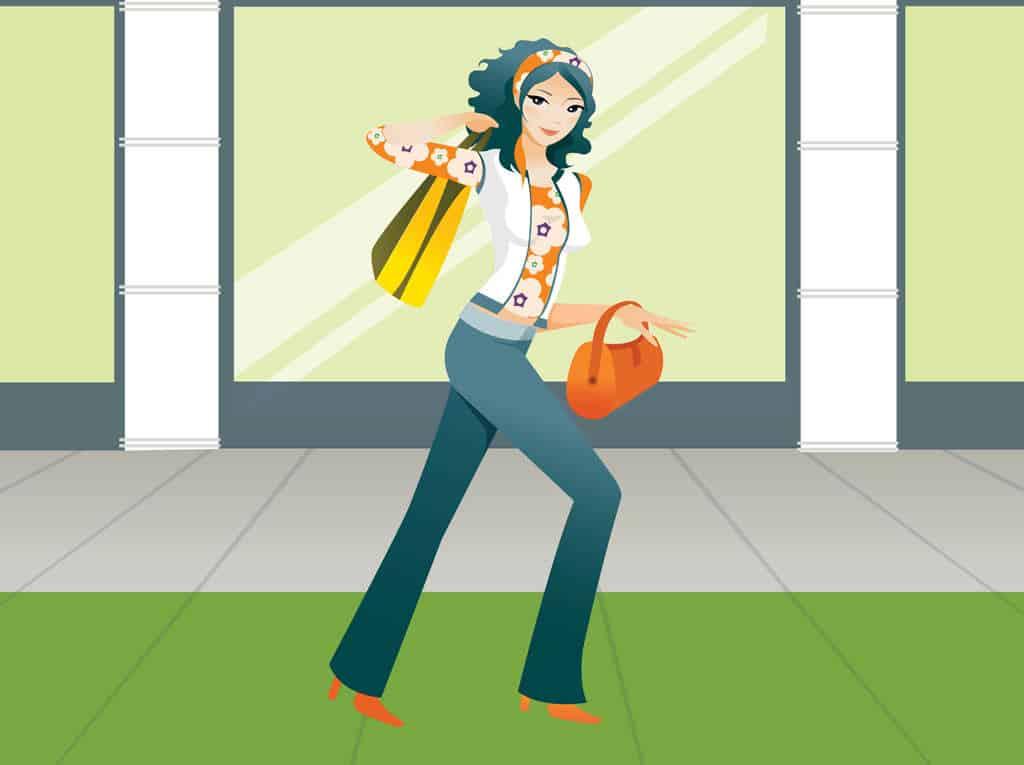 Shopping-Girl-Vector