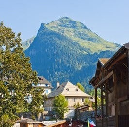 Morzine mountain view on our Learn French France immersion course