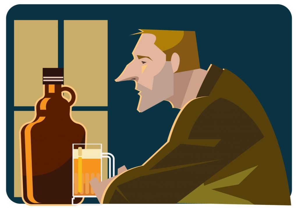 Alone In The Bar Vector
