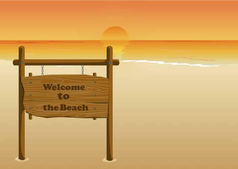billboard for beach