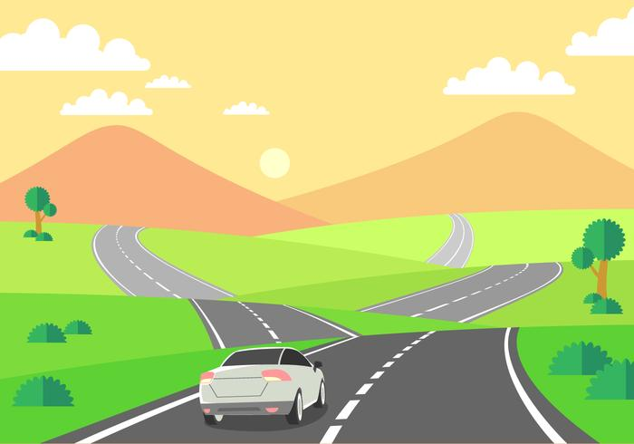 driving-on-the-highway-free-vector