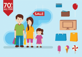 family-shopping-infography-vectors