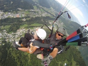 Over Morzine- Learn French and paragliding