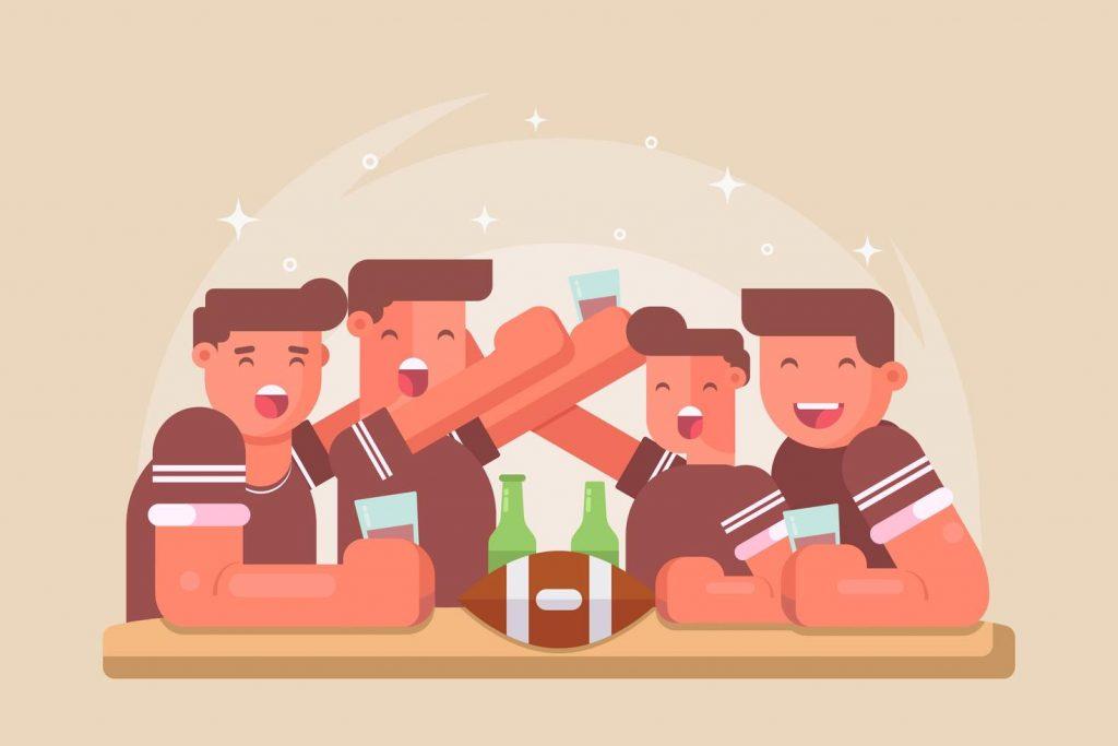Football Party Vectors