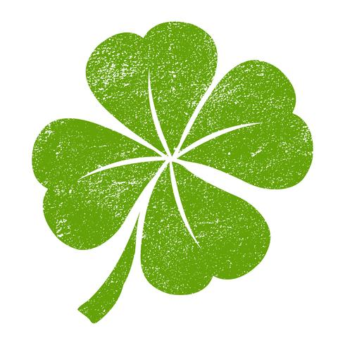 Lucky Irish Clover For St Patrick S Day Vector