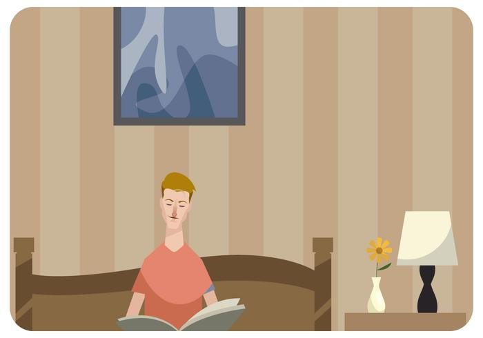 man-reading-a-book-in-bed-vector