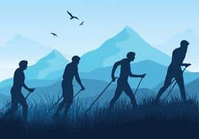 nordic-walking-blue-silhouette-vector
