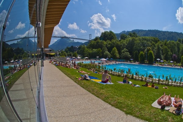 French summer camp pool