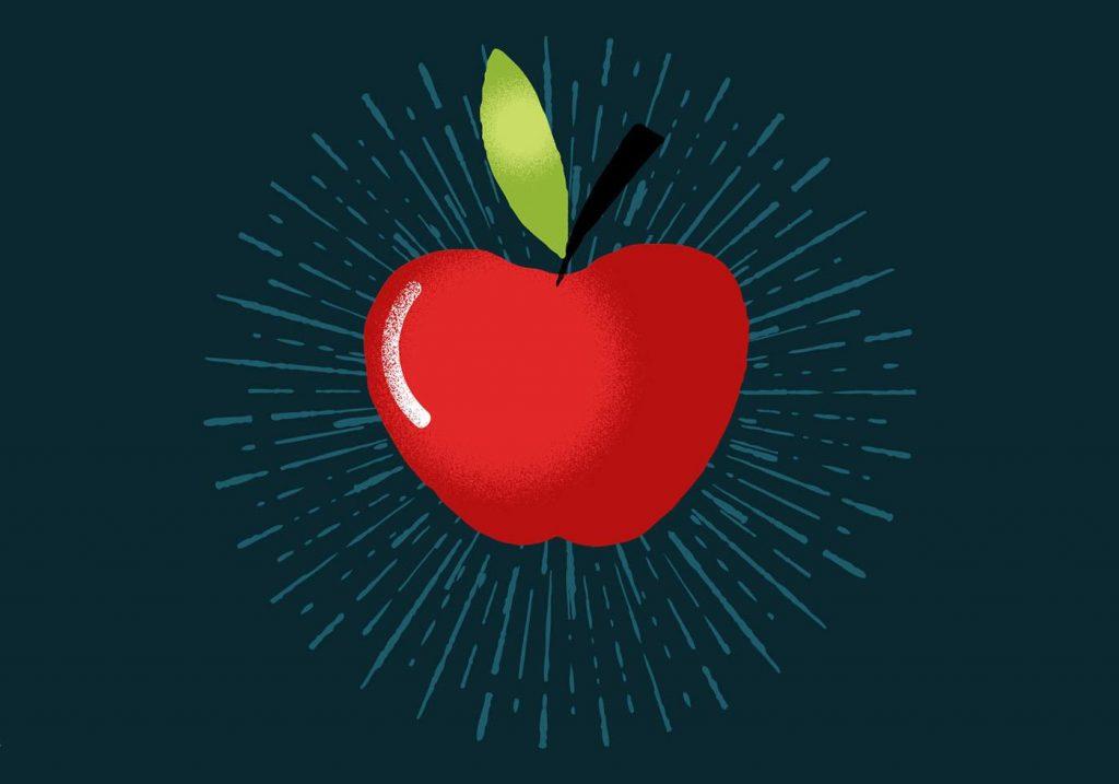 Radiant Apple Vector