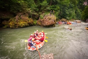 Learn French and Watersports - rafting