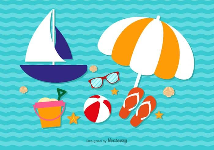 summer-cute-vacation-elements-vector