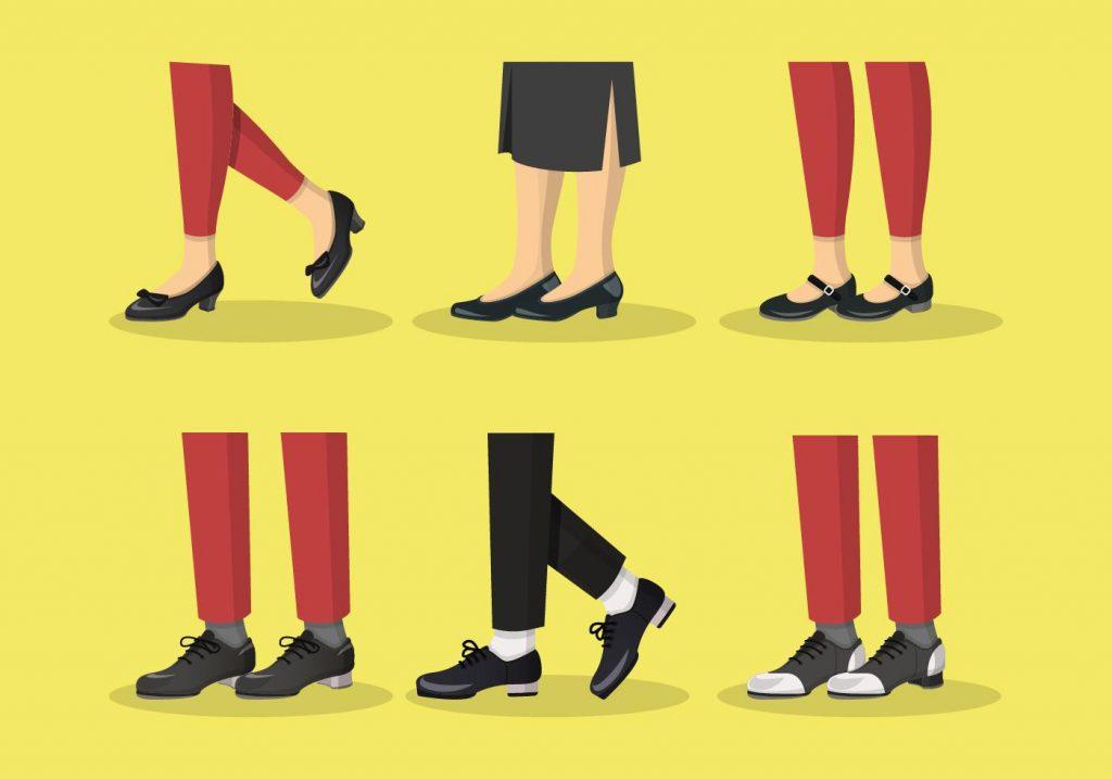 Tap Shoes Vector Sets Illustration
